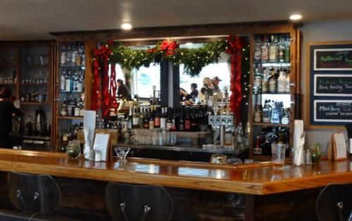 the bar at Salt Pub