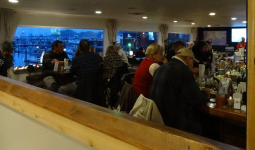 As dusk fell, the restaurant filled and our mood lifted.