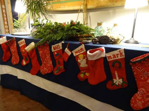 inside, stocking for Salt friends and staff