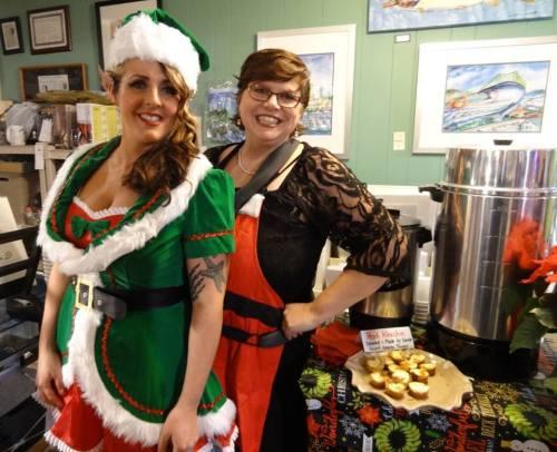 Jenna and her elf helper