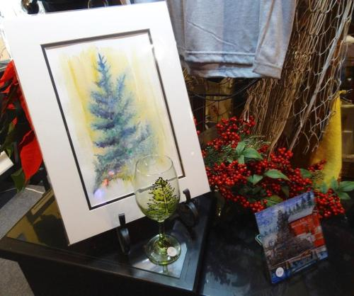 Don's gallery has his art prints, tiles, hand painted glasses, magnets, and more.