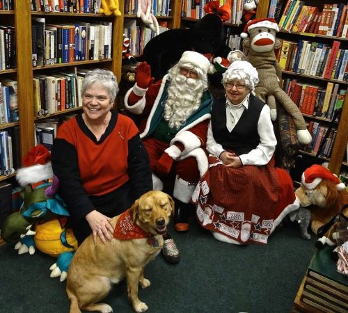 Karla and Scout's Santa photo